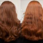 Haare gefärbt mit Henna