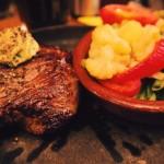Steak mit Gemüse Essensplan