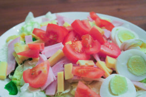 Schneller Salat als Abendessen
